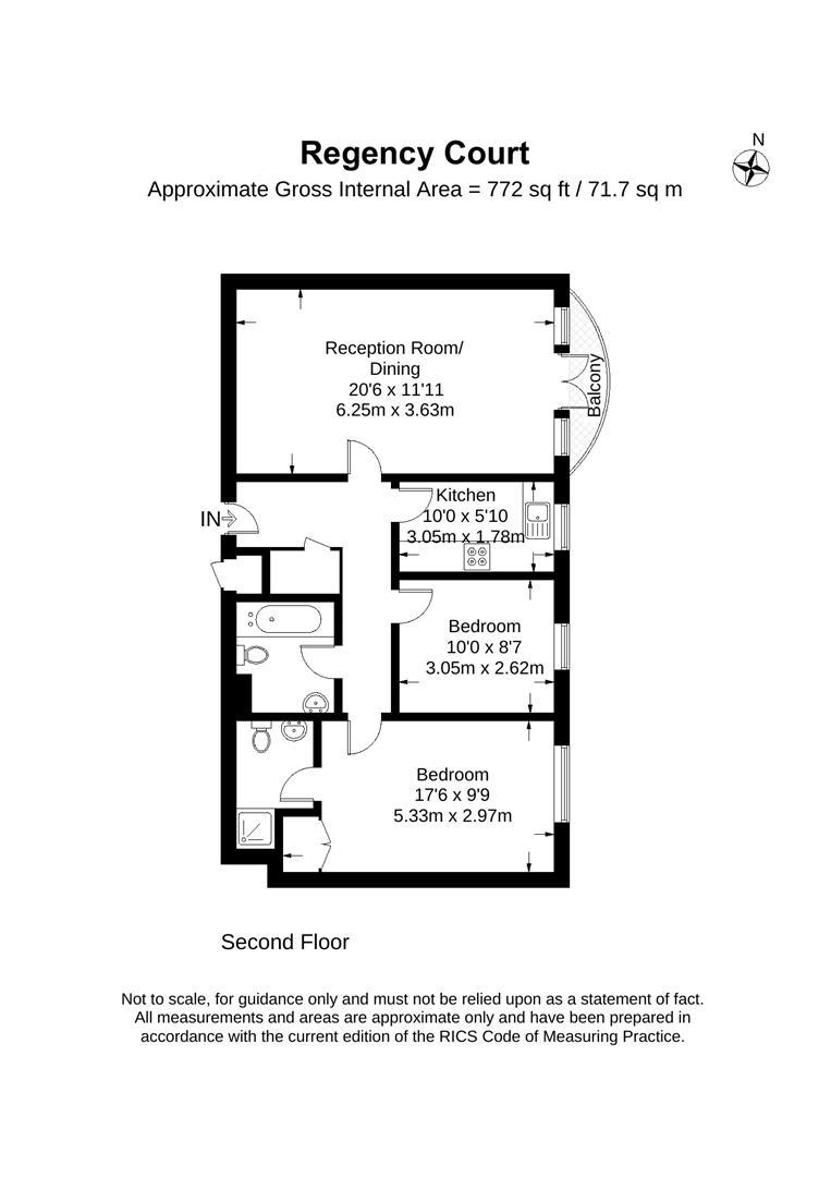 Floorplan for Regency Court, 55 Hartfield Road, Wimbledon